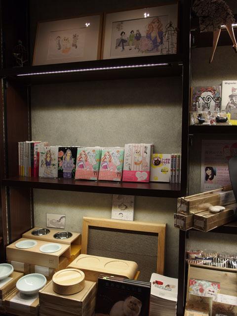 店内には桜沢先生の既刊のほか、カラー原画の展示なども。